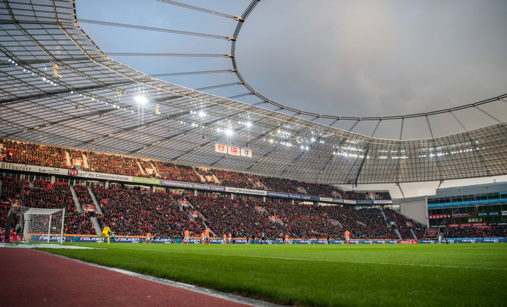 Bayer Leverkusen vs Juventus will take place in the BayArena in Leverkusen. (Photo by Lukas Schulze/Bongarts/Getty Images)