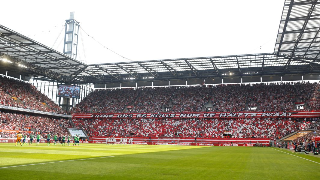 Köln vs Gladbach will take place at the RheinEnergieArena in Cologne. (Photo by Mika Volkmann/Bongarts/Getty Images)