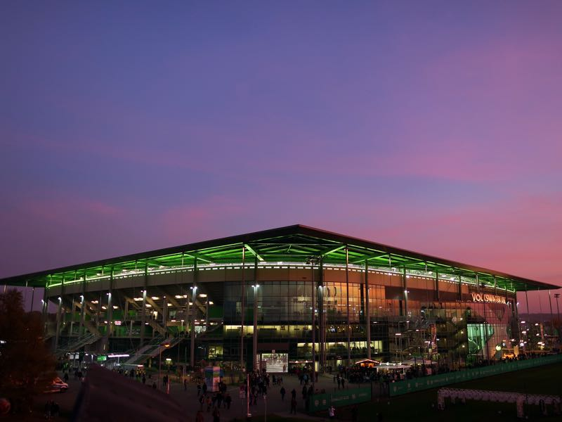 Wolfsburg vs St-Etienne will take place at the Volkswagen Arena. (Photo by Ronny Hartmann/Bongarts/Getty Images)