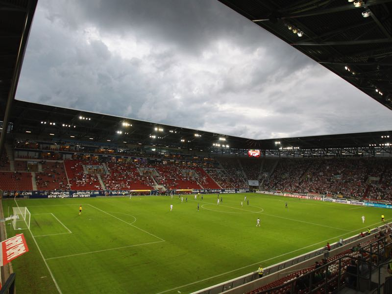 Augsburg vs Bayern Munich will take place at the SGL Arena in Augsburg. (Photo by Alexander Hassenstein/Bongarts/Getty Images)