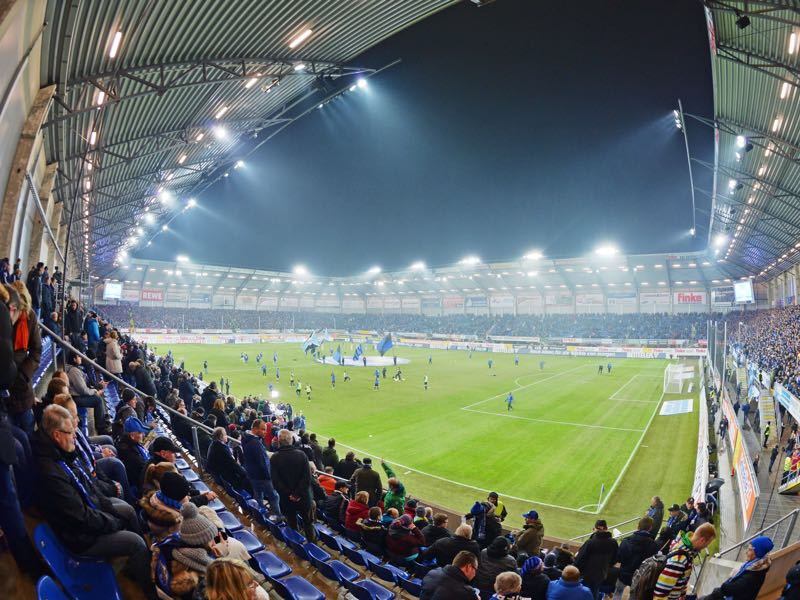 Paderborn vs Bayern Munich will take place at the Benteler Arena in Paderborn. (Photo by Thomas Starke/Bongarts/Getty Images)