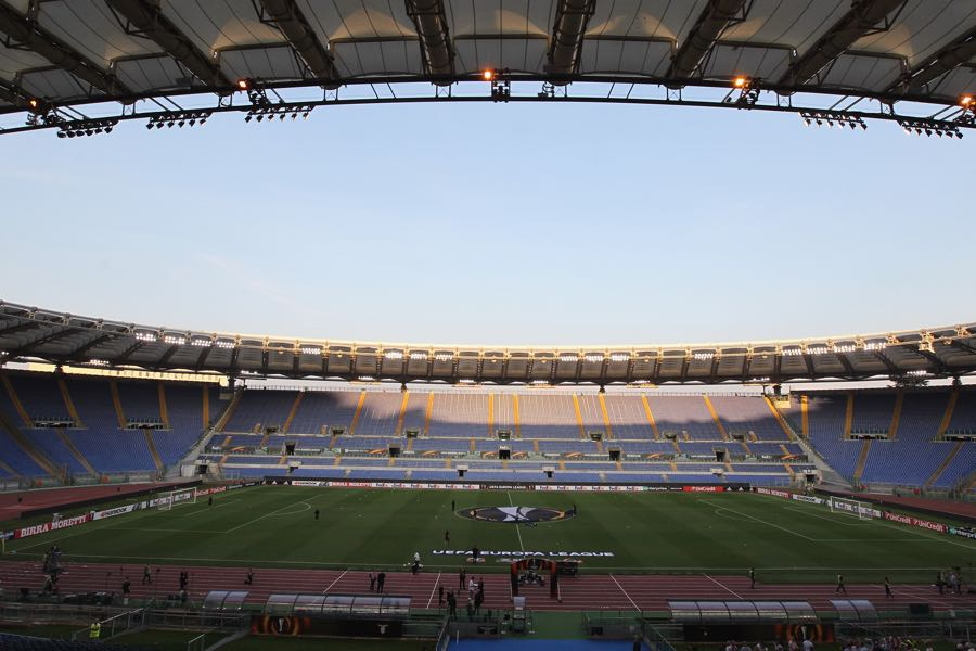 Roma vs Gladbach will take place at the Estadio Olimpico in Rome. (Photo by Paolo Bruno/Getty Images)