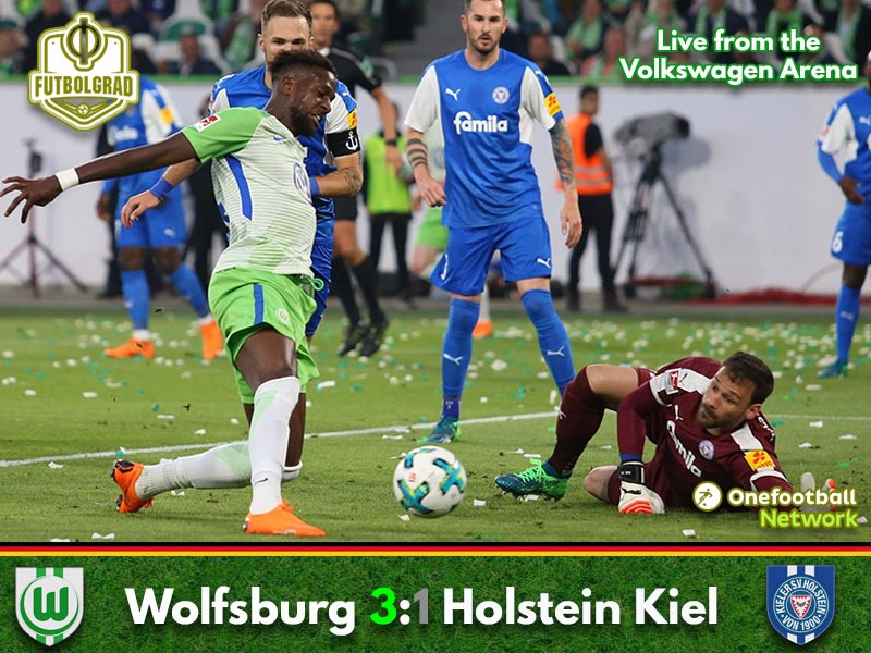 Wolfsburg hang on to take decisive lead to Kiel