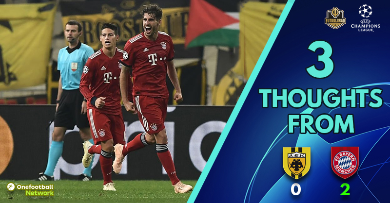 Clinical or pedestrian? – Three Thoughts from AEK vs Bayern