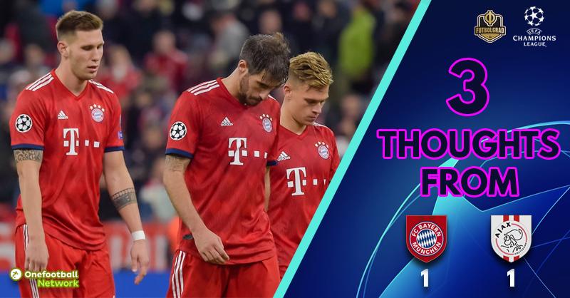 Bayern München v Ajax – Three Thoughts