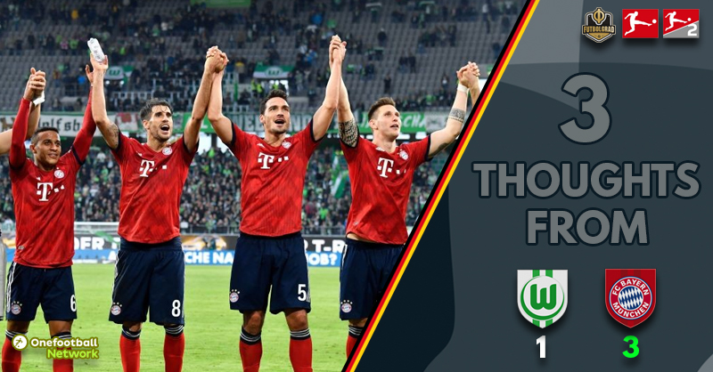 After a legendary press conference, Bayern respond well to beat Wolfsburg 3-1