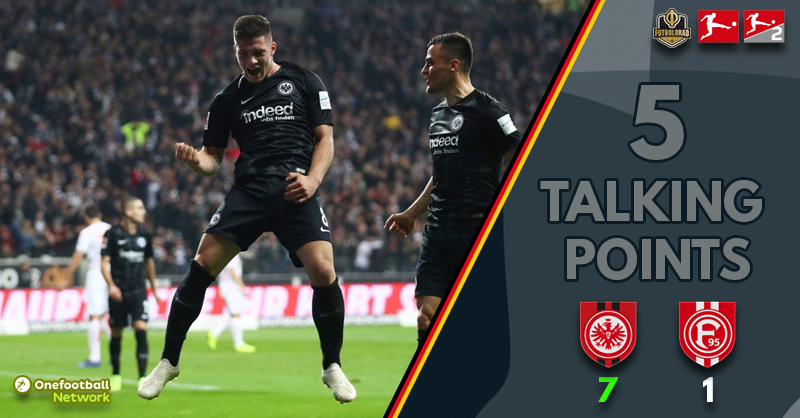 Eintracht Frankfurt crush Fortuna 7-1 – Five thoughts from the Commerzbank-Arena