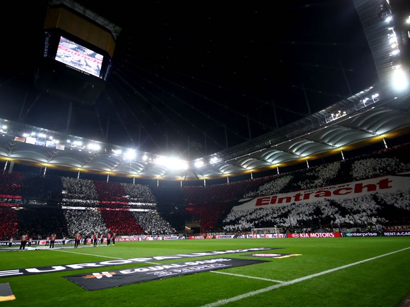 Eintracht Frankfurt vs Standard Liège will take place at the Commerzbank Arena in Frankfurt (Photo by Alex Grimm/Bongarts/Getty Images)