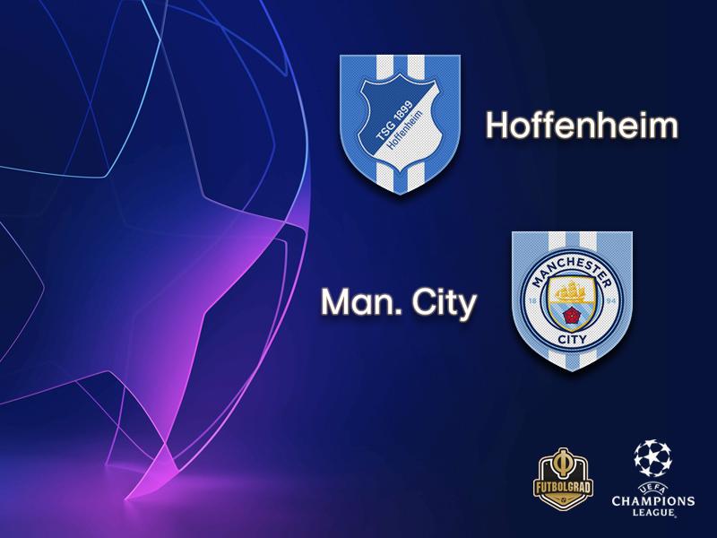 Hoffenheim host English champions Manchester City