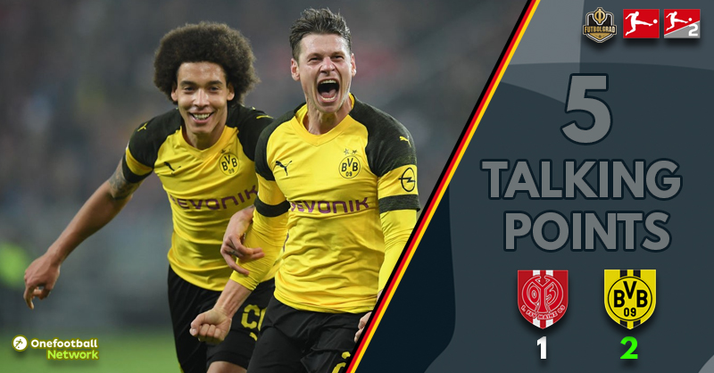 Dortmund win hard-fought encounter with Mainz and go nine points clear of Bayern