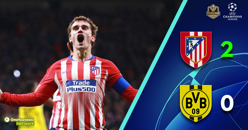 Atletico take revenge as Borussia Dortmund lose for the first time under Favre