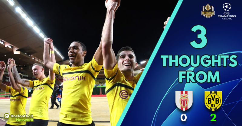 Second string, Guerreiro and first place glory – Three thoughts from Monaco v Dortmund