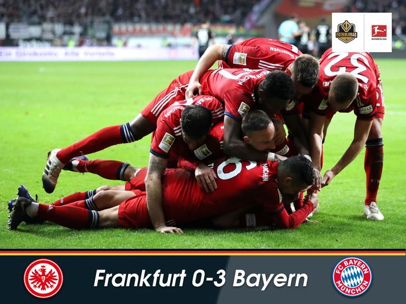 Bayern more efficient as they brush aside Frankfurt in an edgy affair