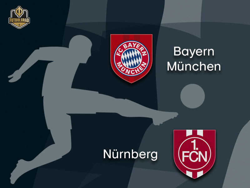 Bayern and 1.FC Nürnberg face each other in the Bavarian Derby