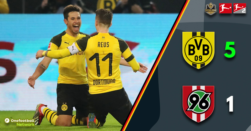 Dortmund roll out a five-star performance as Hannover crumble