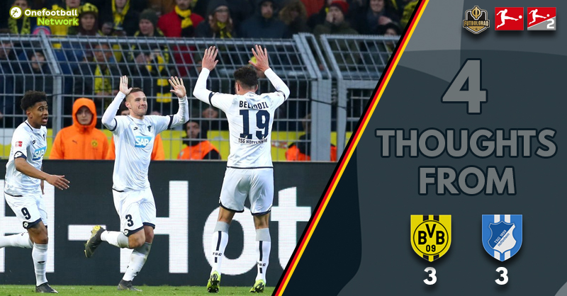 'An improbable come back' and 'Sancho unplayable' – Thoughts from Dortmund vs Hoffenheim