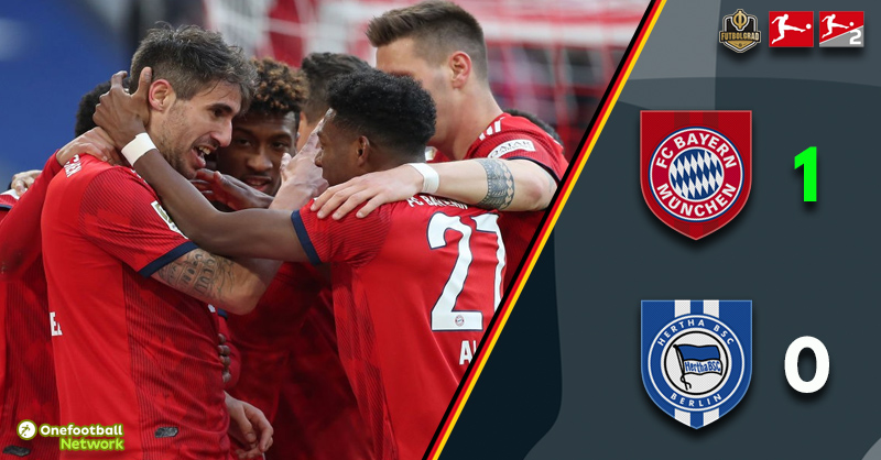 Bayern hold Hertha at bay and close gap to Dortmund