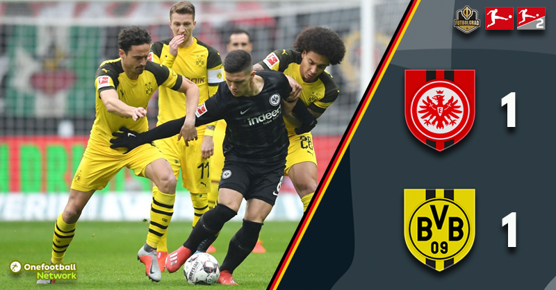 A share of the points the fairest reflection in Frankfurt as Dortmund stretch their lead at the top
