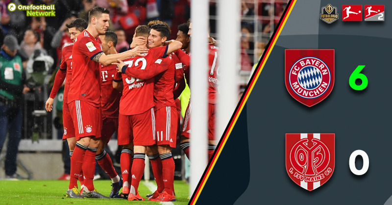 Alphonso Davies scores first Bundesliga goal as Bayern smash Mainz