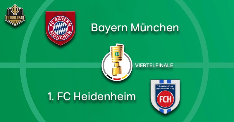 Giants Bayern host minnows 1.FC Heidenheim