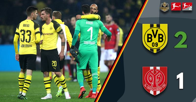 Mainz threaten but Borussia Dortmund eventually prevail