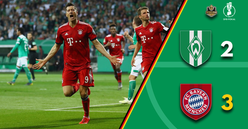 Werder battle hard but Bayern prevail