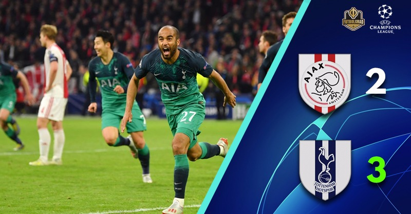 Brilliant Ajax lose control, Tottenham with a magnificent comeback