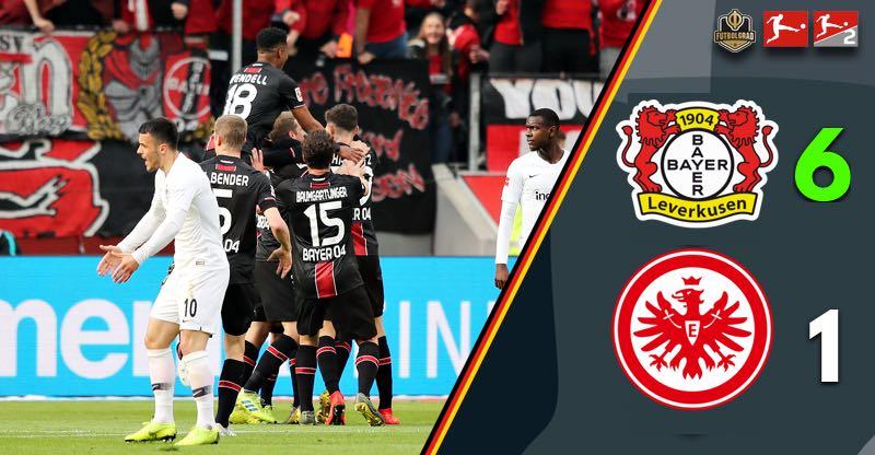 Gone in 45 minutes, Bayer Leverkusen smash Eintracht Frankfurt