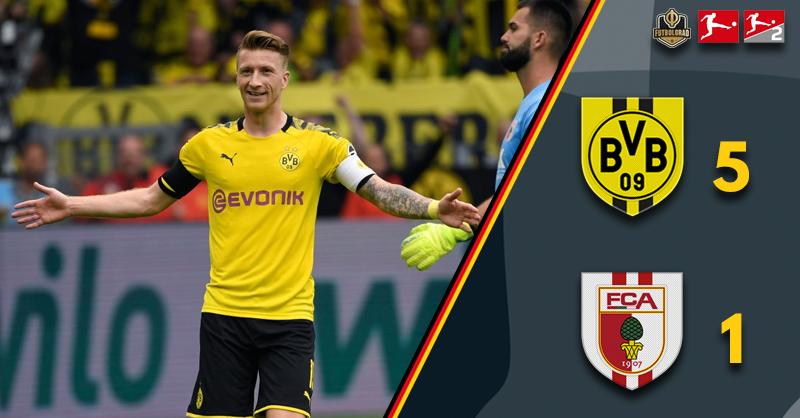 Borussia Dortmund hammer Augsburg to start the season