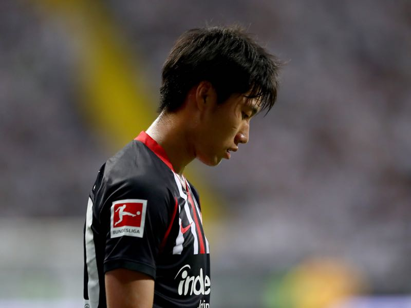 Daichi Kamada of Frankfurt looks on during the UEFA Europa League Second Qualifying Round 2nd Leg match between Eintracht Frankfurt and FC Flora Tallinn at Commerzbank-Arena on August 01, 2019 in Frankfurt am Main, Germany. (Photo by Martin Rose/Bongarts/Getty Images)
