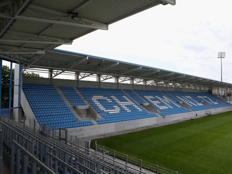 Chemnitz vs 1860 Munich will take place at the Stadion and der Gellertstraße (Photo by Karina Hessland/Bongarts/Getty Images)