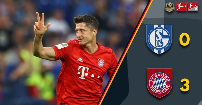 Lewandowski stars in Bayern's 3-0 win over Schalke