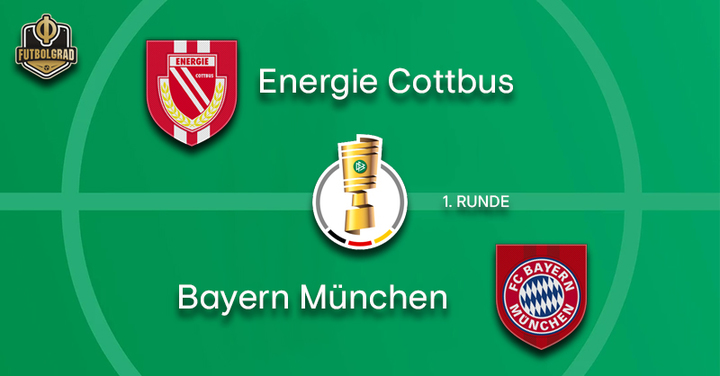 Energie Cottbus take on giants Bayern München