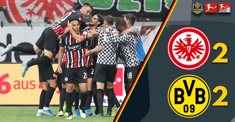 Frankfurt come back twice, battle Dortmund to a draw