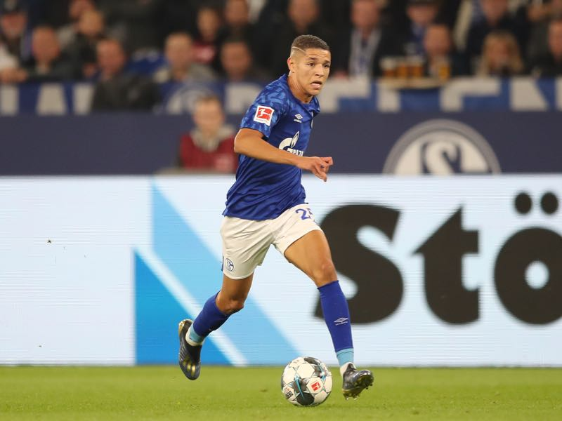 Amine Harit of FC Schalke 04 in action during the Bundesliga match between FC Schalke 04 and 1. FSV Mainz 05 at Veltins-Arena on September 20, 2019 in Gelsenkirchen, Germany. (Photo by Christian Kaspar-Bartke/Bongarts/Getty Images)