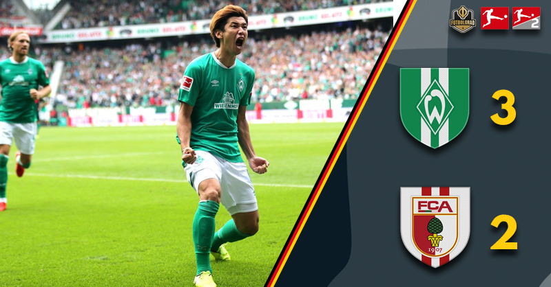 Werder Bremen nervously hold on to edge past Augsburg