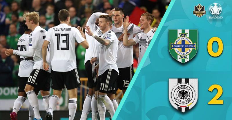 Germany defeat Northern Ireland 2-0 in Belfast