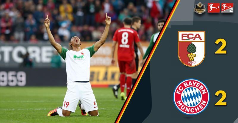 Finnbogason the hero, Augsburg shock Bayern late