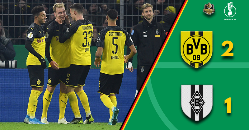 Julian Brandt the hero, Dortmund come from behind to eliminate Gladbach