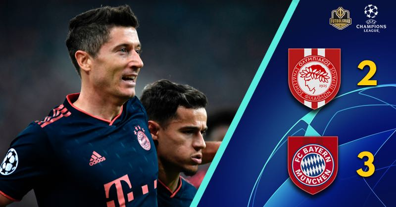 Robert Lewandowski rescues Bayern against Olympiacos