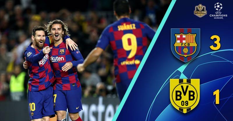 Lionel Messi leads Barcelona to victory over Borussia Dortmund