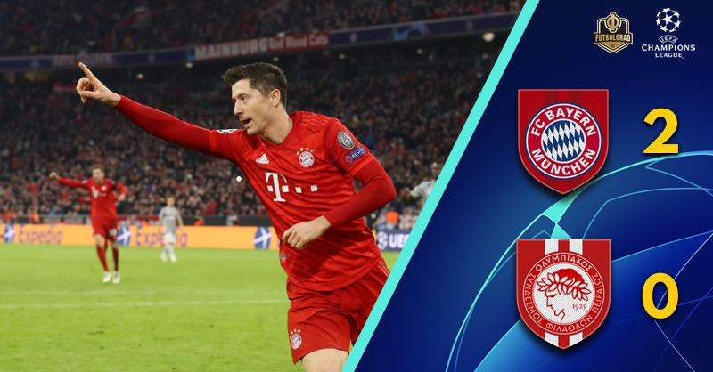After one way traffic, Bayern Munich's Robert Lewandowski sinks Olympiacos