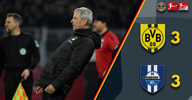 Borussia Dortmund salvage a draw but Paderborn spotlight Favre's weakness