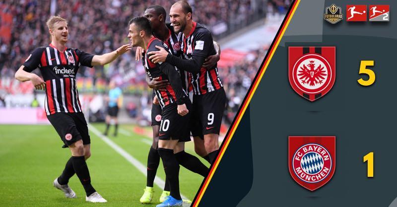 Eintracht Frankfurt smash Bayern Munich 5-1