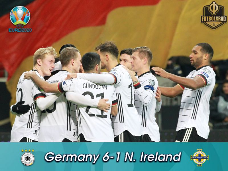 Serge Gnabry leads Germany to 6-1 victory over Northern Ireland
