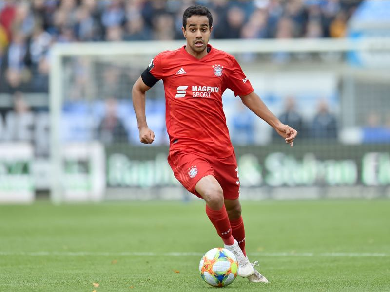 Sarpreet Singh (Muenchen) runs with the ball during the 3. Liga match between SV Meppen and Bayern Muenchen II at Haensch-Arena on November 3, 2019 in Meppen, Germany. (Photo by Michael Titgemeyer/Getty Images for DFB)