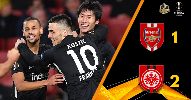 Unai Emery on the brink as Arsenal fall to Eintracht Frankfurt