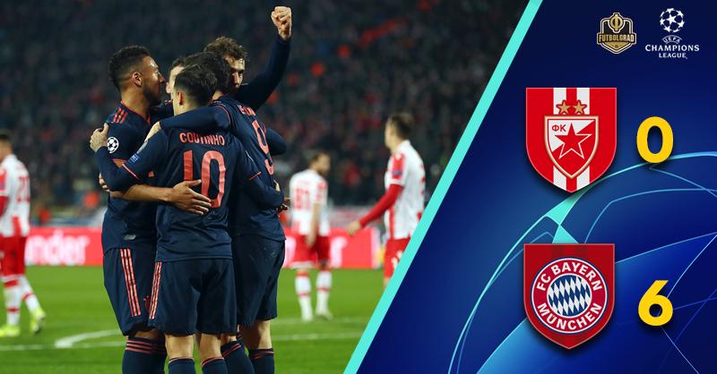 Robert Lewandowski scores 4, Bayern smash Crvena Zvezda