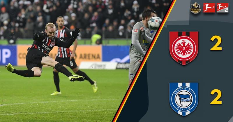 Jürgen Klinsmann's Hertha Berlin hang on to collect one point against Eintracht Frankfurt