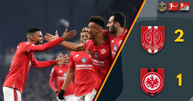Mainz come from behind to beat Frankfurt in the Rhein-Main Derby